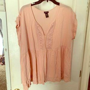 Torrid Sz 1 blouse! Rose pink!